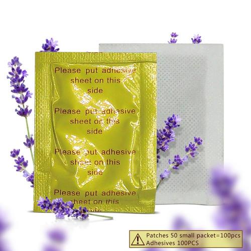 200pcs/lot GOLD Premium Kinoki Detox Foot Pads Organic Herbal Cleansing Patches (100pcs Patches+100pcs Adhesives) 2017 New