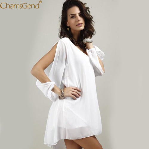Lady summer dress 2019 White Casual Cocktail Short Mini Dress formal dress women elegant dresses woman party night ChiffonFeb3