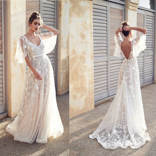 2019 New Women Dress Sexy Deep V Neck Casual Party Dress Backless Sleeveless White Dresses Vacation Wear