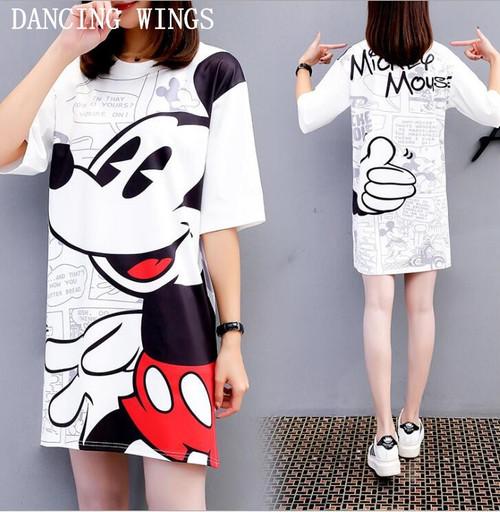 Fashion Summer T Shirt Women tshirt Cartoon Mouse Printing Loose Casual Tees Women Short Sleeve Tops