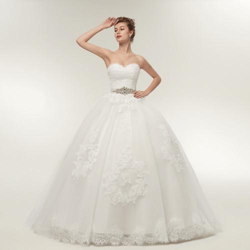 Fansmile Two Piece Long Sleeve Jacket Wedding Dresses 2019 Plus Size Bridal Ball Gowns Vestido de noiva Robe De Mariage FSM-122T
