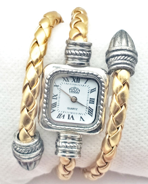 Leather Snake Fashion Brand Bracelet Watches Women Ladies Casual Quartz Watch Crystal Wrist Watch Wristwatch Clock Hour 8A85