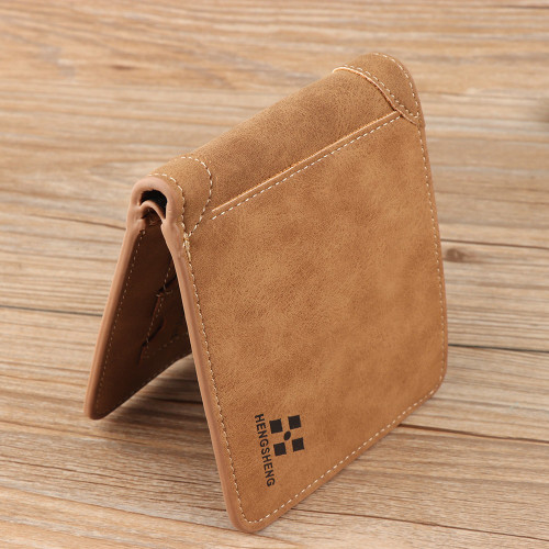 1PC Fashion Men Wallet PU Leather Purse Bifold Wallet ID Credit Card Holder Clutch Bifold Coin Pockets Portable Short Wallet