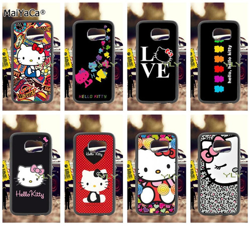 i love hello kitty soft TPU edge cell phone cases for samsung s6 edge plus s7 edge s8 plus s9 plus note5 note8 note9 cover case
