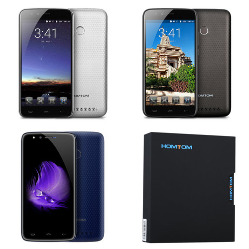 5500mAh HOMTOM HT50 5.5 inch Screen Mobile Phone 3GB RAM 32GB ROM MTK6737 Quad Core Android 7.0 8MP Cameras Smartphone