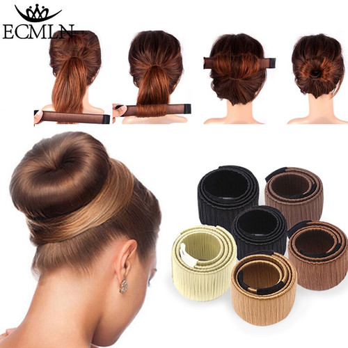 Hair Accessories Synthetic Wig Donuts Bud Head Band Ball French Twist Magic DIY Tool Bun Maker Sweet French Dish Made Hair Band