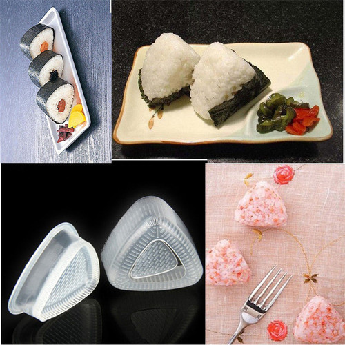 2PCS/1 Set Sushi Mold Onigiri Rice Ball Bento Press Maker Mold DIY Tool