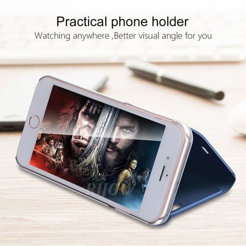 P Smart Mirror View Case For Huawei P20 Pro P10 P8 Lite 2017 Leather Flip Cover Huawei Y7 Prime 2018 Honor 9 Mate 20 Y9 2019