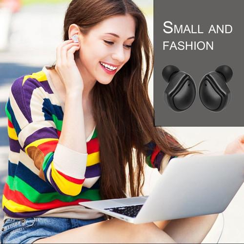 AMTERBEST Mini Bluetooth 4.1 Earphones Headset True Wireless Earbuds Stereo In Ear Earpod with Charging Box Portable for Phones