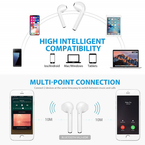 i7s TWS Wireless Bluetooth Earphone for Verykool Lotus II 2 s5005 s5001 Music Earbud Charging Box
