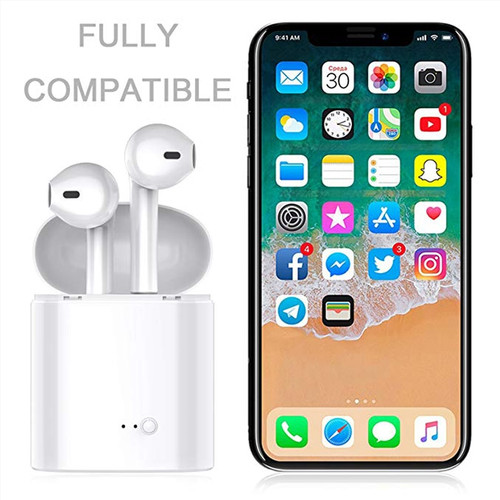 i7s TWS Wireless Bluetooth Earphone Stereo Earbud Headset With Charging Box Mic For  For phone iPhone Xiaomi Samsung Air pods