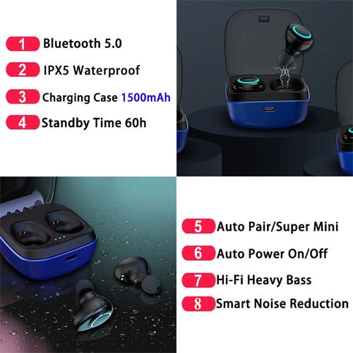 TWS Wireless headsets Bluetooth 5.0 Earphones IPX5 Waterproof In-Ear Sports Earbuds Mic Stereo headsets for xiaomi earphones