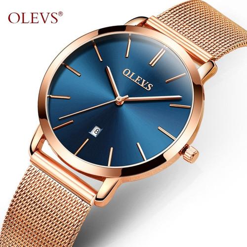 OLEVS Women Watch Elegant Brand Famous Luxury Gold Quartz Watches Ladies Steel Clock Geneva Wristwatches
