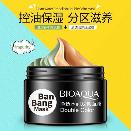 BIOAQUA Ban Bang Double Color Face Mask Moisturizing Cream For Face Deep Cleaning Skin Pore Acne Blackhead Treatment Facial Care