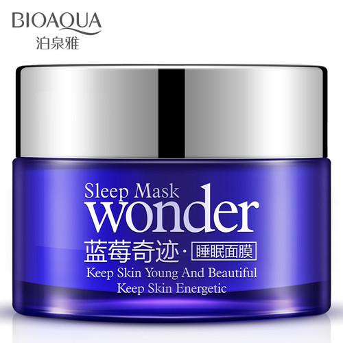 BIOAQUA Wonder Natural Blueberry Sleeping Mask Cream Anti Aging Anti Wrinkle Hydrating Moisturizing Night Cream No Wash Mask