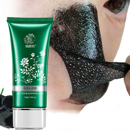 QYF Blackhead Facial Mask Face Skin Care Remove Nose Acne Black Head Shrinking Pores Treatment Mask Whitening Beauty