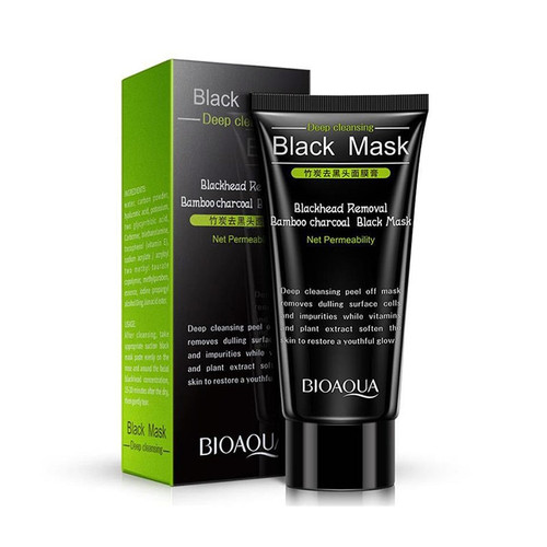 BIOAQUA Skin Care Bamboo Charcoal Blackhead Remover Face Black Mask Deep Cleansing Peeling Mask Beauty Facial Masks
