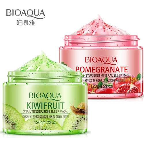 Bioaqua Fruit Skin Care Mask Deep Whitening Moisturizing Sleeping Mask Acne Remover Blackhead Repair Mask For Face Beauty
