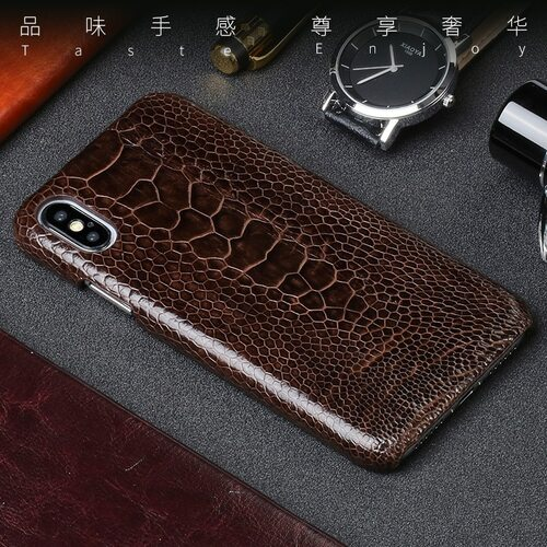 Genuine Leather phone case For iPhone X case Natural Ostrich Foot Skin phone shell For iPhone SE 5 5S 6 6S 7 8 Plus X cover