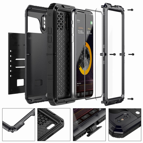 Portefeuille For iPhone X Case Waterproof Shockproof Aluminum Silicone Protection Phone Cover For iPhone 8 Plus 7 6 6S 5 S 5S SE