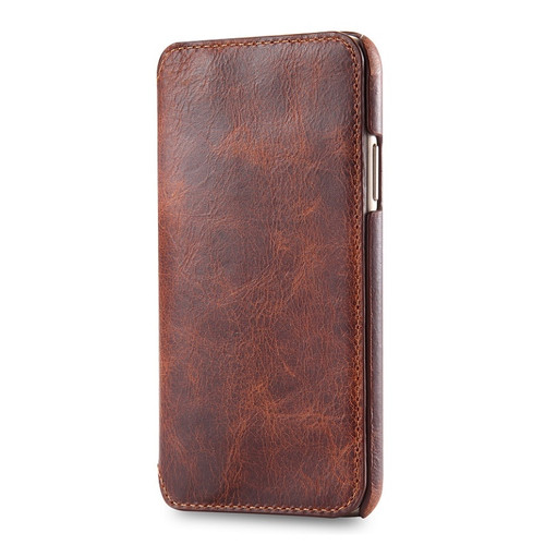 Solque Real Genuine Leather Flip Cover Case For iPhone X XS Max XR Cell Phone Luxury Retro Vintage Card Holder Wallet Book Case