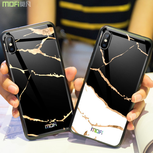 For iphone X Case Luxury Tempered Glass Back Cover Mofi For iphone X Case Football Soccer Unique Design Pattern For iphonex Case