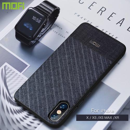 For iPhone Xs Max Case For iPhone Xs Case For iPhone XR Case Cover Mofi Xs Max Back Cover iPX Business Suit Cloth Style Fabrics