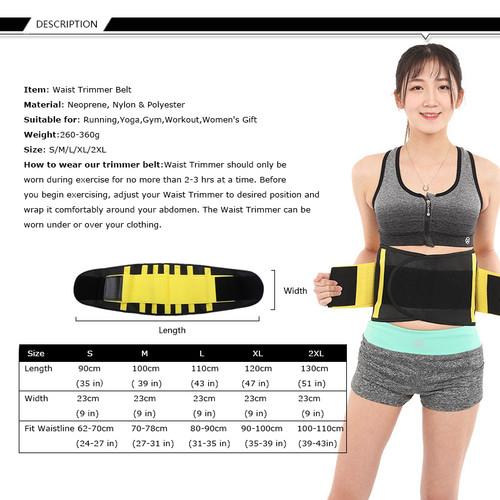 Waist Trainer Belt Body Sharper Belly Wrap Cincher Trimmer Slimmer Compression Band Back Support Sport Girdle Weight Loss Fitnes