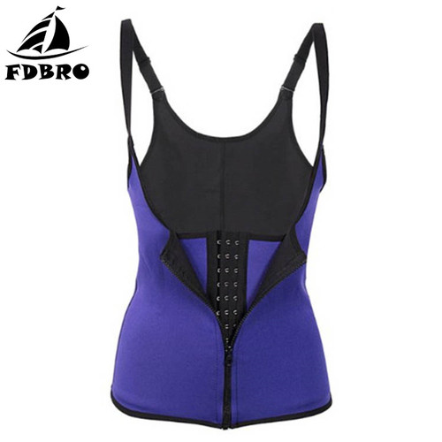FDBRO Waist Trimmer Press Belt Women Abdominal Support Belt Sports Corset Girdle Zipper Vest Slim Weight Trainer Body Shaper
