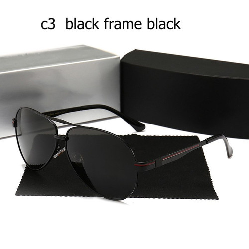 Sunglass Polarized high quality Men uv400 sunglasses with logo Large frame Driving pilot Glasses Oculos De Sol