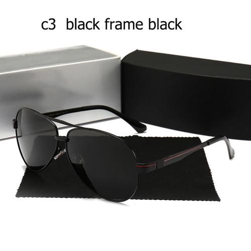 Sunglass Polarized high quality Men uv400 sunglasses with logo Large frame Driving pilot Glasses Oculos De Sol