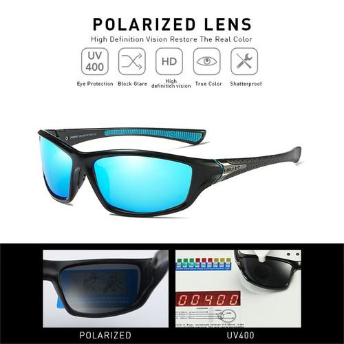 DUBERY Sunglasses Men's Driving Polarized Night Vision Sun Glasses For Men Square Sports Brand Luxury Mirror Shades Oculos D120
