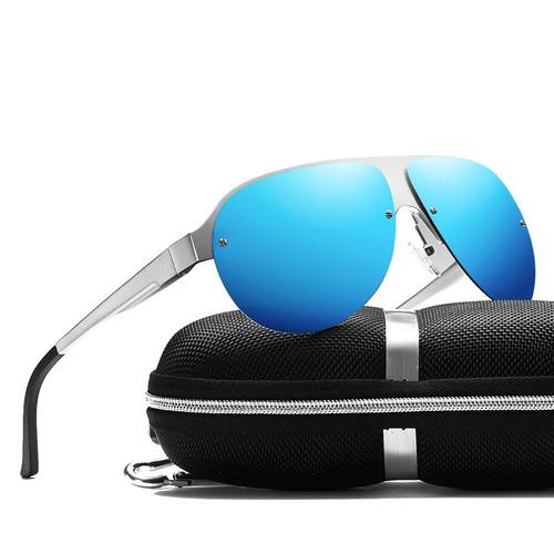 Trend Sunglasses Men Polarized Aluminum Magnesium Alloy Anti UV Fishing Sun Glasses Driver Driving Glasses Square Sports Goggles