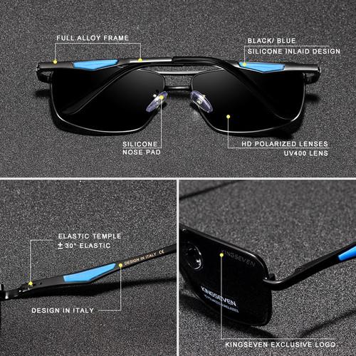 KINGSEVEN Brand Classic Square Plastic Polarized Men Sunglasses Men's Sun Glasses Driving Fishing Aluminum Eyewear N7906