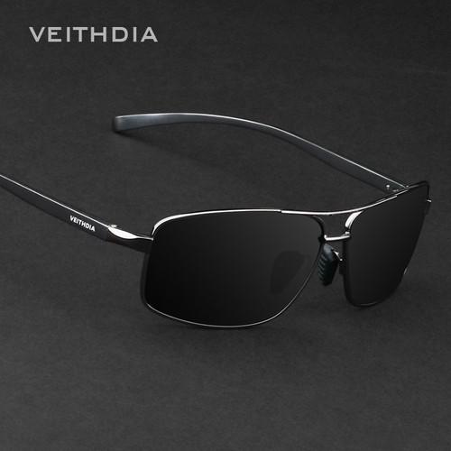 VEITHDIA Brand Best Alloy Men's Sunglasses Polarized Lens Driving Eyewear Accessories Driving Sun Glasses For Men 2458