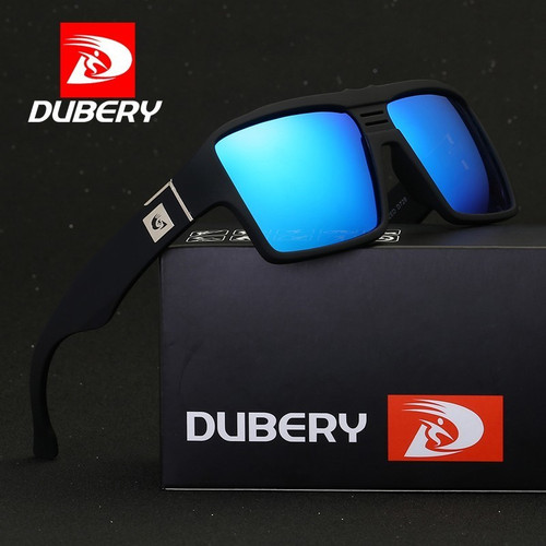 DUBERY Polarized Sunglasses for Men Women 2019 New Fashion Square Vintage Sun Glasses Sport Driving Retro Mirror Luxury Brand