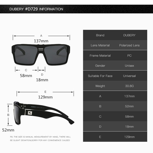 7a3e03224822b ... DUBERY Polarized Sunglasses for Men Women 2019 New Fashion Square  Vintage Sun Glasses Sport Driving Retro