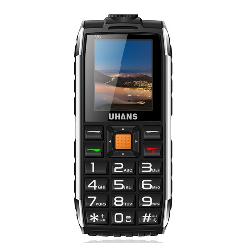 Uhans V5 Daily Waterproof shockproof phone Power bank Dual sim GSM cellphone 2500Mah Big box speaker Led Flashlight Mobile phone