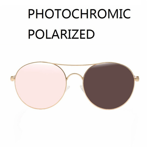 Vazrobe Photochromic Polarized Sunglasses Men Women Round Sun Glasses for Man Chameleon Transition UV400 Fashion Driving Eyewear