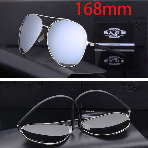 Vazrobe Huge Oversized Sunglasses Men Polarized Mirrored 168mm Sun Glasses for Man Driving HD Polaroid Extra Large Wide Face