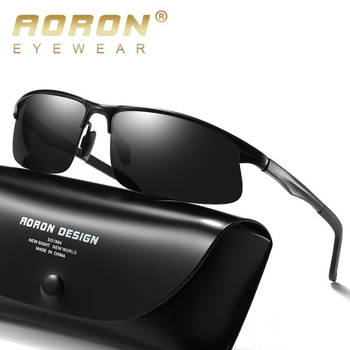AORON Driving Polarized Sun Glasses Sports Sunglasses Men Polarized Driver Goggles Anti-glare Goggles