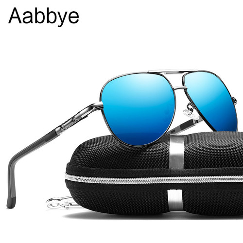 Aabbye Pilot Yurt Sun Glasses Men Polarized Sunglasses Brand Logo Design Driving Glasses Goggles