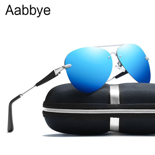 Aabbye Men Vintage Aluminum Polarized Sunglasses Classic Brand Sun glasses Coating Lens Driving Shades For Men/Women