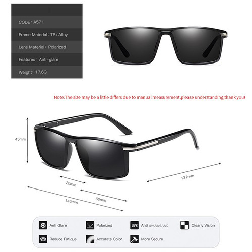 2019 New Men Polarized Sunglasses Men's Driving Shades Male Sun Glasses Vintage Driving Fashion Sun Glasses Men Goggle 571