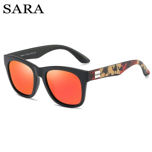 SARA Round Polarized Sunglasses Men Women Driving Coating Eyewear Male Sun Glasses UV400 Rays Sunglasses Travel Goggles
