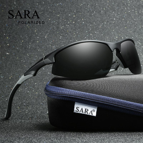 SARA Male Sun Glasses Fashion Sports Polarized Sunglasses For Men Women UV400 Driving Fishing Shades Lenses Outdoor Eyewear