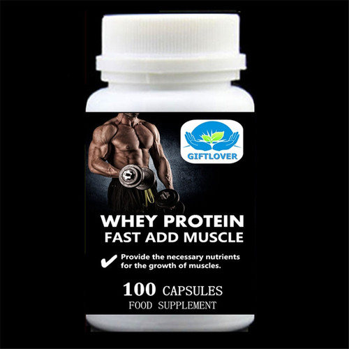 Fast Add Muscle,Whey Protein,5,000mg Provide the necessary nutrients for the growth of muscles,Gain Weight - 100pieces/bottle