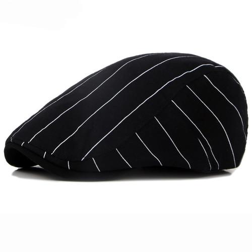 HT1709 Spring Summer Sun Cap Hats for Men Women Striped Cotton Berets Male Ivy Flat Cap Beret Hat Fashion Female Men Beret Cap