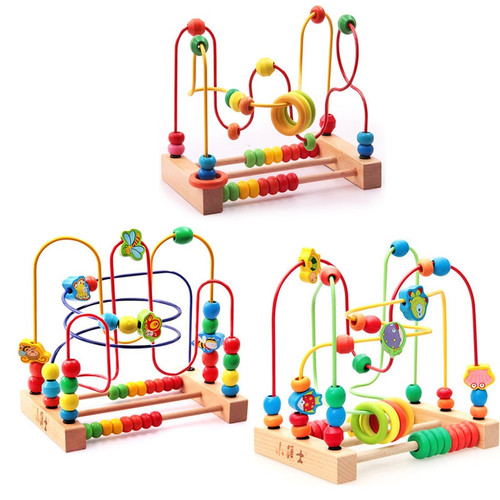 Active Cube Large Children Beaded Development Baby Intellectual Power Education Wooden Building Blocks Toy for Children Birthday