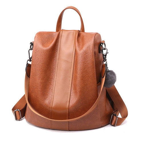 Multifunction Women Backpack Leather Female School Shoulder Bags for Teenage Girls Anti Theft Backpack Women Travel Back Pack